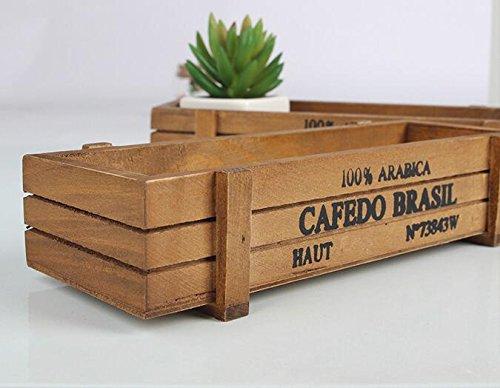 Lusee® Holz Retro Blumetopf Pflanzer