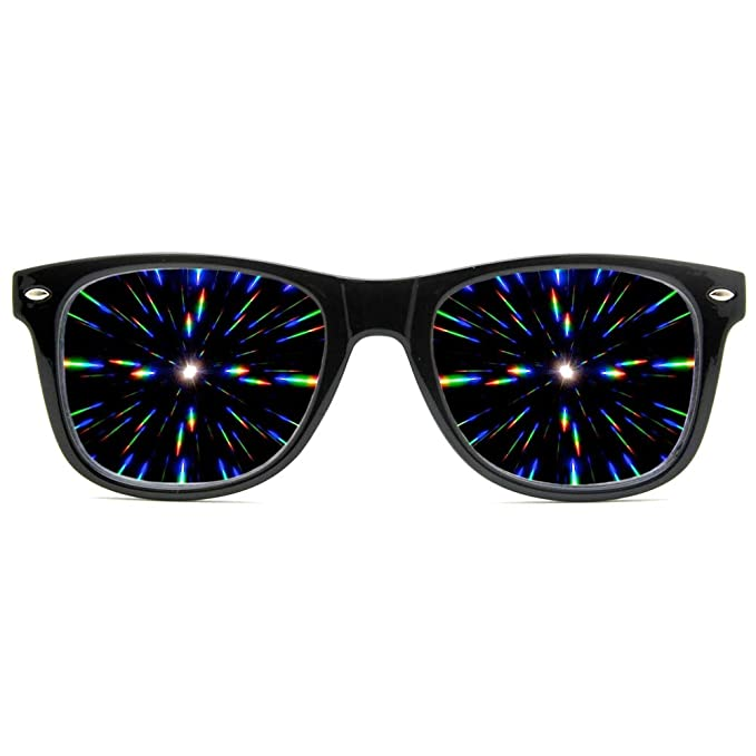 Amazon.com: Gafas de sol con difracción. Efecto ...
