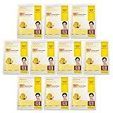 Dermal Korea Collagen Essence Full Face Facial Mask Sheet - Vitamin pack of 10