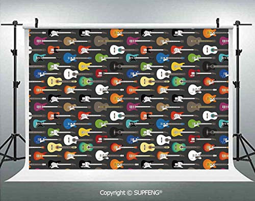 Photo Backdrop Grunge Instruments Strings Creativity Writing Songs Digital Classic Acoustic Music 3D Backdrops for Interior Decoration Photo Studio Props]()
