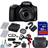 Canon Powershot SX60 16.1MP Digital Camera 65x Optical Zoom Lens 3-inch LCD Tilt Screen (Black) + Extremespeed 32GB Commander Memory + Spider Flexible Tripod + Deluxe Carrying Case + 12pc Bundle