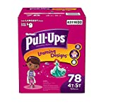 Health & Personal Care : Pull-Ups Training Pants with Learning Designs, Girls, 4T-5T, 78 Count