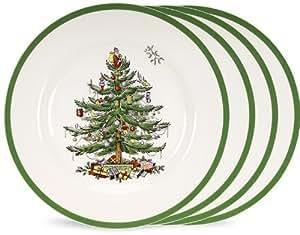 Spode Christmas Tree Grove Salad Plate, Set of 4