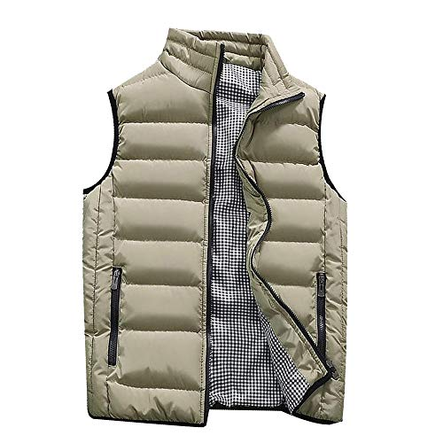 Multi-Color Leisure Warm Gilet Vest Male Pure Color Padded Cotton Waistcoat Warm Down Outwear ()