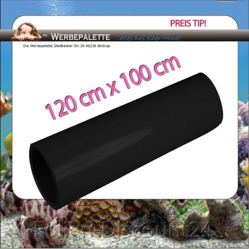 (EUR 5,75 / Quadratmeter) Aquarium Terrarium Rückwandfolie Folie SCHWARZ 120 cm x 100 cm TOP ! Preistip