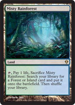 MTG 英語版 ZEN 霧深い雨林 Misty Rainforest 土地 レア ゼンディカー マジック・ザ・ギャザリング