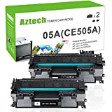 Aztech 2 Packs 05A CE505A Compatible 05A Toner Cartridge Replaces for HP 2035 HP 05A CE505A HP Laserjet P2055DN P2035N P2055D P2055X Laserjet P2055 P2035 P2030 P2050 2035 2055 Toner Ink Black