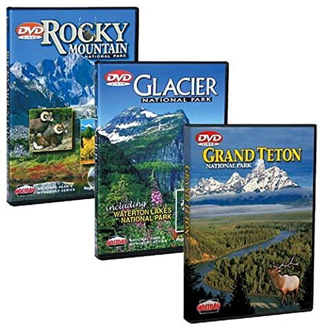 National Park DVD Gift Set: Glacier, Grand Teton & Yellowstone and Rocky Mountain (Rocky Mountain National Park Dvd)