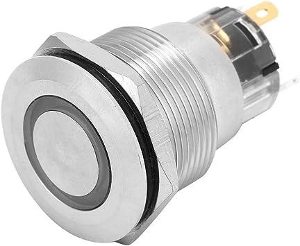 2 ST/ÜCKE Druckschalter Selbstsichernde Rastschalter 4-Pin 22mm Montagebohrung IP65 Metallschalter Schiff Auto /Änderung Gr/ün 12~24VDC