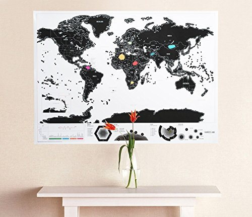 Scratch Off World Map Outlined product image
