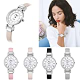 COOKI Women Quartz Watches Clearance Roman Numeral Analog Ladies Watches Girl Watches Thin Leather Female Watches-A204
