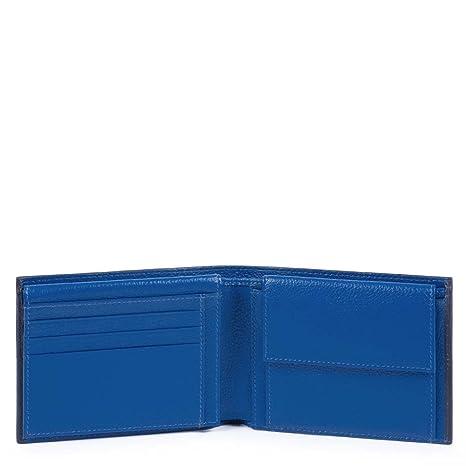 643d8d1496 Piquadro Splash Porta carta di identità, 12 cm, Blu/Blu: Amazon.it ...