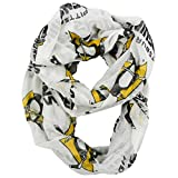NHL Pittsburgh Penguins Sheer Infinity Scarf, One Size, White