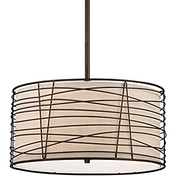 Munroe wire wrapped burlap 18 14 wide bronze pendant light munroe wire wrapped burlap 18 14quot wide bronze pendant light greentooth Gallery
