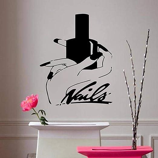 xingbuxin Nails Art Vinilo Pegatinas de Pared salón de Belleza ...