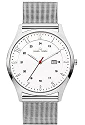 Danish Design Men's Grey Steel Bracelet Titanium Case Quartz White Dial Analog Watch IQ62Q956