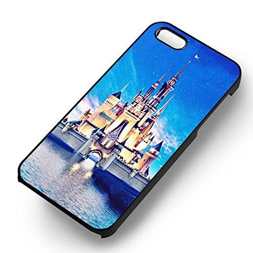 Disney Castle pour Coque Iphone 6 et Coque Iphone 6s Case (Noir Boîtier en plastique dur) E5Y7ZH