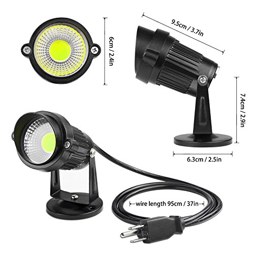 Lemonbest LED Landscape Up Down Light 5W White LED