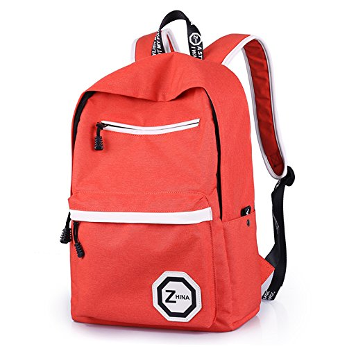 Otomoll Deportes Ocio Turismo Bolsa Mochila Paquete De Estudiante,Azul Marino Orange red