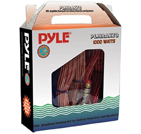 Amazon.com: Pyle Car Audio Wiring Kit - 20ft 8 Gauge Power Wire 1000 Watt  Amplifier Hookup for Battery Head Unit & Stereo Speaker Installation Sound  System - Marine Grade Cable Wired &Amazon.com