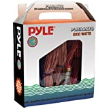 Pyle Car Audio Wiring Kit - 20ft 8 Gauge Power Wire 1000 Watt Amplifier Hookup for Battery Head Unit & Stereo Speaker Installation Sound System - Marine Grade Cable Wired & Gold Plated Fuse PLMRAKT8