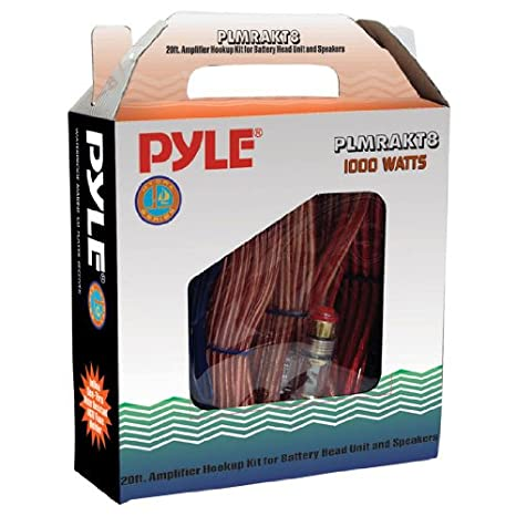Pyle PLMRAKT8 Marine Grade 8 Gauge Amplifier Installation Kit Sound Around