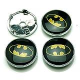 BENZEE 4pcs W248 60mm Car Emblem Badge Sticker Wheel Hub Caps Centre Cover BAT Batman