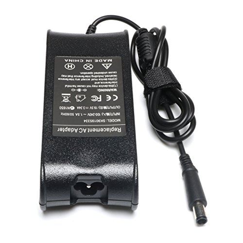 65W 19.5V 3.34A AC Adapter Charger for Dell Inspiron N4010 N4110 N5110 N5010 N5050 N5030 N5040 Inspiron E1405 E1505 1525 1526 1545 1546 1440 1750 Round Power Supply Cord by Easy Style (Image #3)