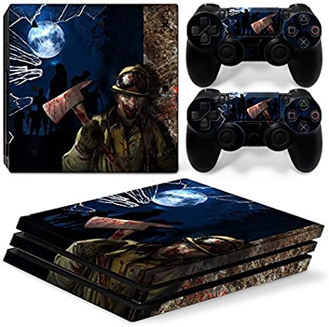 46 North Design Ps4 Pro Playstation 4 Pro Pegatinas De La Consola Zombie Horror + 2 Pegatinas Del Controlador: Amazon.es: Videojuegos