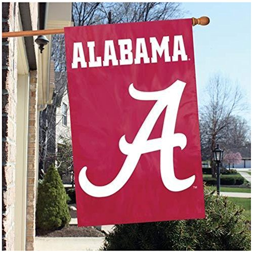 Party Animal Official National Collegiate Athletic Association Fan Shop Authentic NCAA School Sports Man Cave Spirit Flag - Banner (Alabama Crimson Tide)