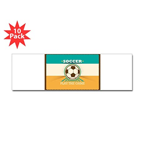 fa29d1ded Amazoncom Bumper Sticker 10 Pack Soccer Football Futbol Play The