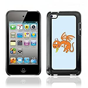 Super Stellar Slim PC Hard Case Cover Skin Armor Shell Portection // V0000559 Fire Dragon Cartoon// Apple iPod Touch 4 4G 4th