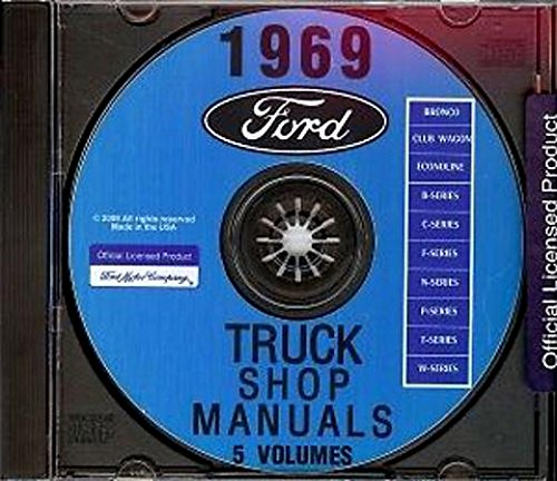 A MUST FOR OWNERS, MECHANICS & RESTORERS - THE FULLY ILLUSTRATED 1969 FORD VANS REPAIR SHOP & SERVICE FACTORY MANUAL CD INCLUDES: E-100, E-200 and E-300 Econoline Van, including the Club Wagon, Custom Club Wagon & Chateau Wagon 69 (Ford E200 Econoline Engine)