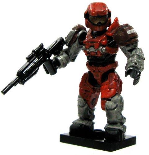 Halo Wars Mega Bloks LOOSE Mini Figure UNSC Red Grenadier Spartan with Battle Rifle [Series 6]