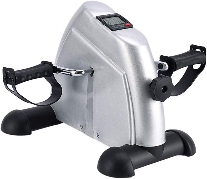 RXRENXIA Mini Bike Home Trainer, Mini Pedal de Ejercicio Pedal de Ejercicio con Monitor LCD y Volar en el Ejercicio de la Oficina y GP con Relieve Antideslizante