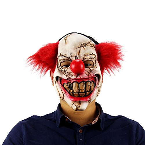Smartcoco 1pcs Halloween Masquerade Mask Scary Child's Play Latex Realistic Crazy Rubber Creepy Party Mask Halloween Costume Decoration (Halloween 6 Producers Cut)