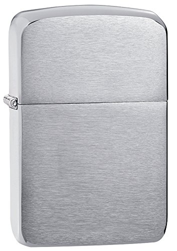 Zippo 1941 Sterling Pocket Lighter, Silver Hand Satin Finish