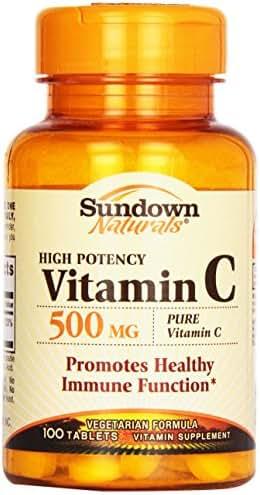 Sundown, C-500 Mg Ascorbic Acid Tablets, 100 ct
