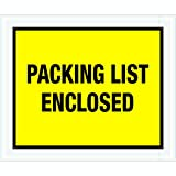 Tape Logic TLPL428 ''Packing List Enclosed'' Envelopes, Full Face, 10'' x 12'', Yellow (Pack of 500)
