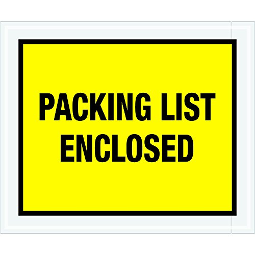 Tape Logic TLPL428 ''Packing List Enclosed'' Envelopes, Full Face, 10'' x 12'', Yellow (Pack of 500) by Tape Logic
