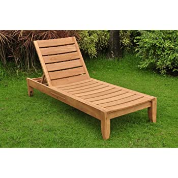 New Grade A Teak Multi Position Sun Chaise Lounger Steamer - Furniture only -- Atnas  sc 1 st  Amazon.com : teak chaise - Sectionals, Sofas & Couches
