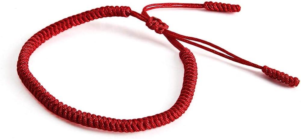 Dragonface Fashion Style Lucky Handmade Weave Bangle Buddhist Knots Red Rope Bracelet Tibetan Adjustable Bracelet Jewelry