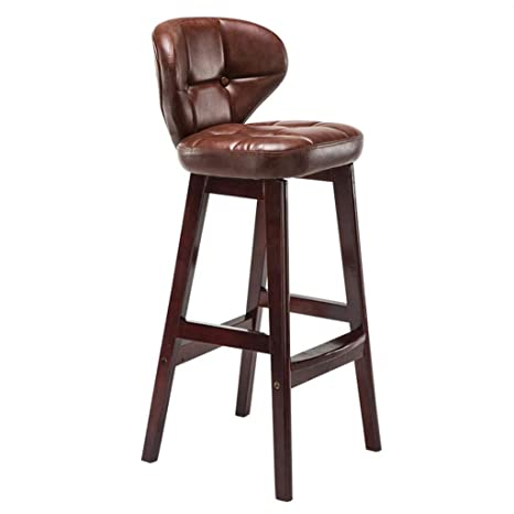 Amazon.com: LIGHTYEARS YM Silla de bar de madera maciza ...