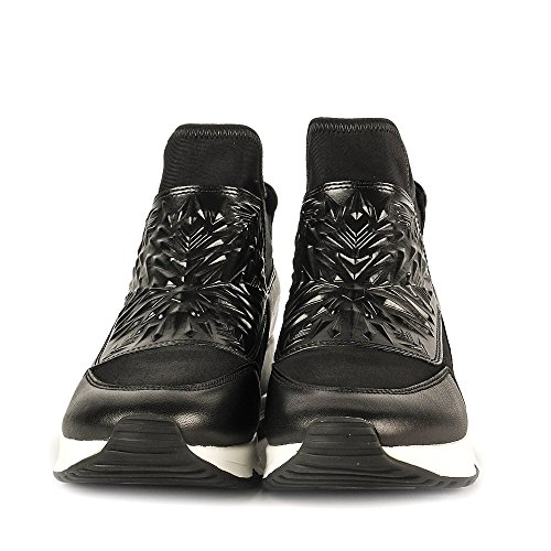 Ash Footwear Lazer Bis Black Leather and Neoprene Trainer Black XhzGqymH