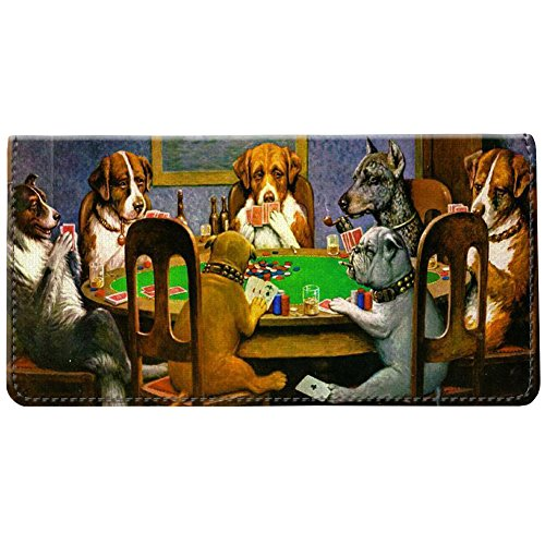 (Snaptotes Coolidge Dogs Playing Poker Checkbook Cover)
