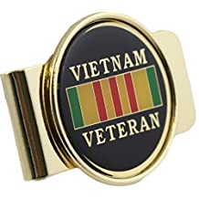 Vietnam Veteran Logo Money Clip Military Money Clip