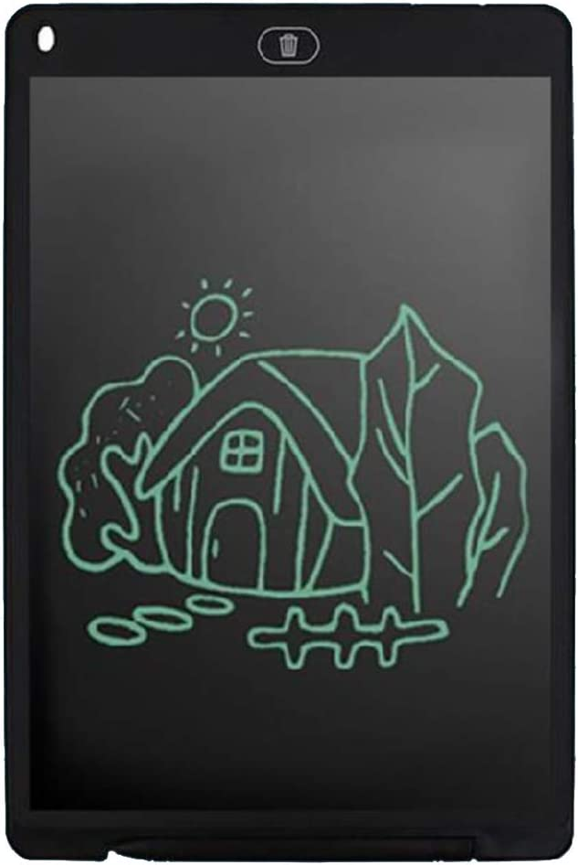 12-Inch Writing Board Doodle Board Drawing Pad LCD Writing Tablet with Lock Function Business Memo Pad Doodle Toy for Kids Gifts for Kids /& Adults,Black