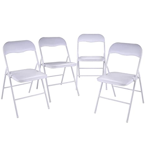 Stupendous Tobbi 4 Pack Commercial White Plastic Folding Stack Able Wedding Party Event Chair White Evergreenethics Interior Chair Design Evergreenethicsorg