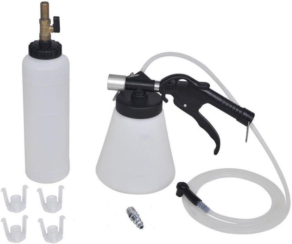 JOMAFA Sangrador Purgador de frenos, embragues y direccion neumático con Botella de relleno para cambiar líquidos del vehiculo