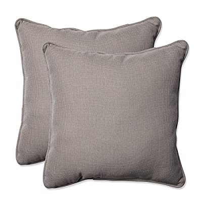 "Pillow Perfect Outdoor/Indoor Tweed Throw Pillow (Set of 2), 18.5"", Gray - Includes two (2) outdoor pillows, resists weather and fading in sunlight; Suitable for indoor and outdoor use Plush Fill - 100-percent polyester fiber filling Edges of outdoor pillows are trimmed with matching fabric and cord to sit perfectly on your outdoor patio furniture - patio, outdoor-throw-pillows, outdoor-decor - 51Q1IPzTHxL. SS400  -"